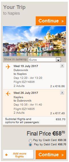 Dubrovnik >> Napoli >> Dubrovnik