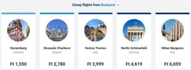 Letovi iz Budimpeste