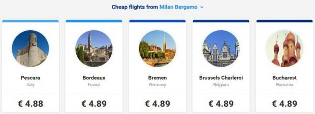 Letovi iz Milana
