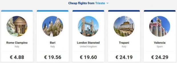 Letovi iz Trsta