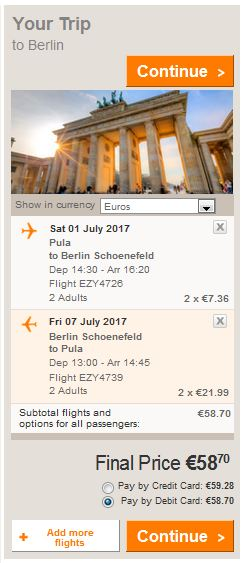 Pula >> Berlin >> Pula