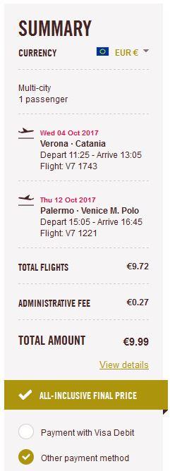 Verona >> Catania + Palermo >> Venecija
