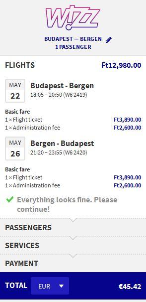 Budimpešta >> Bergen >> Budimpešta