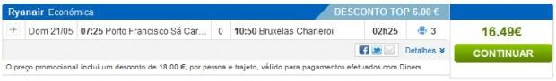 Porto >> Brisel (Charleroi)