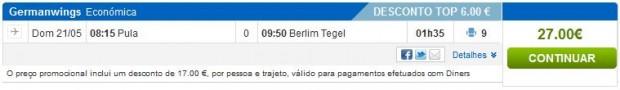 Pula >> Berlin, na rumbo.pt stranicama