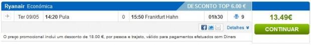 Pula >> Frankfurt (Hahn)