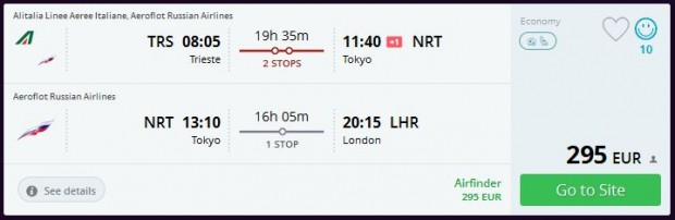 Trst >> Tokio >> London