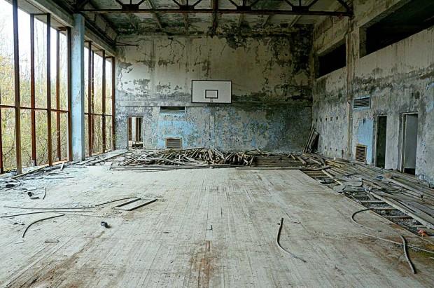 Pripjat/Černobil - napuštena sportska dvorana