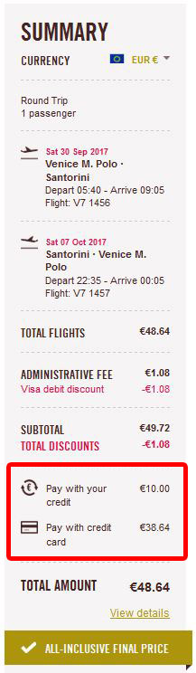 Venecija (MP) >> Santorini >> Venecija (MP)