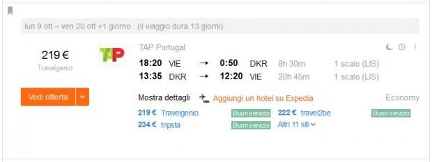 Beč >> Dakar >> Beč