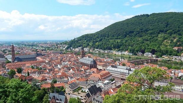 Heidelberg - pogled sa tvrđave na stari grad