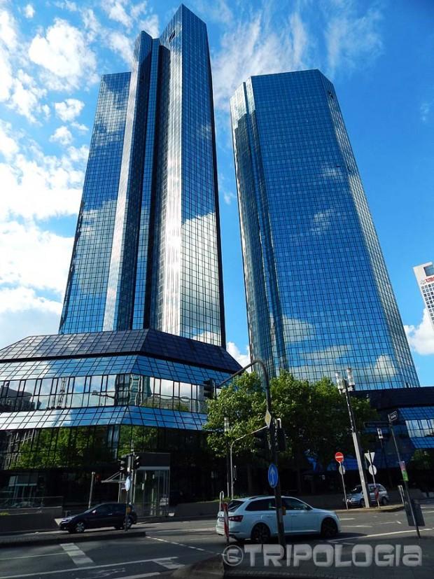 Deutsche Bank I - 155 metara visoki blizanci na Mainzer Landstraße