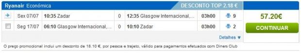 Zadar >> Glasgow >> Zadar, na rumbo stranicama