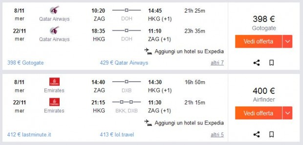 Zagreb >> Hong Kong >> Zagreb