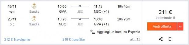Ženeva >> Nairobi >> Ženeva
