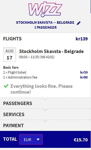 Stockholm >> Beograd
