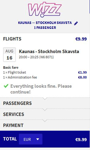 Kaunas >> Stockholm