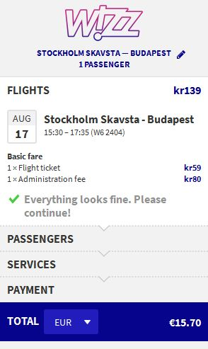 Stockholm >> Budimpešta