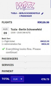 Tuzla >> Berlin