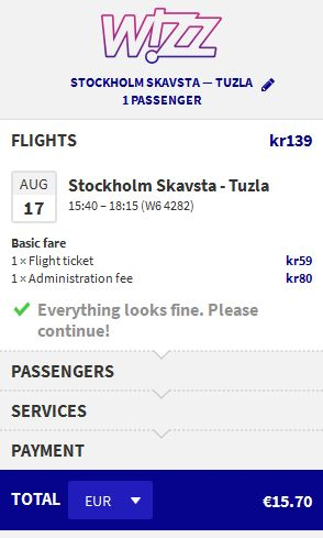 Stockholm >> Tuzla