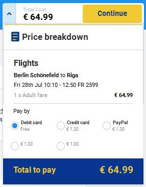 Berlin >> Riga