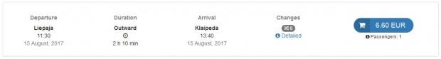 Liepaja >> Klaipeda