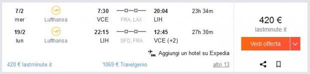 Venecija >> Lihue >> Venecija