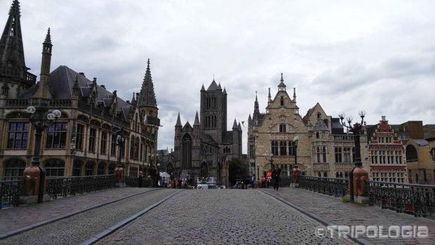 Pogled sa mosta Sint-Michielsbrug...
