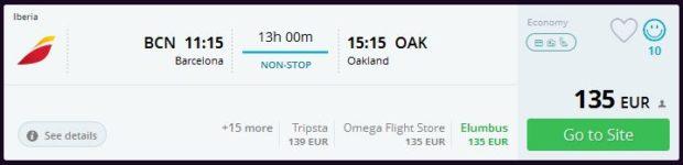 Barcelona >> Oakland