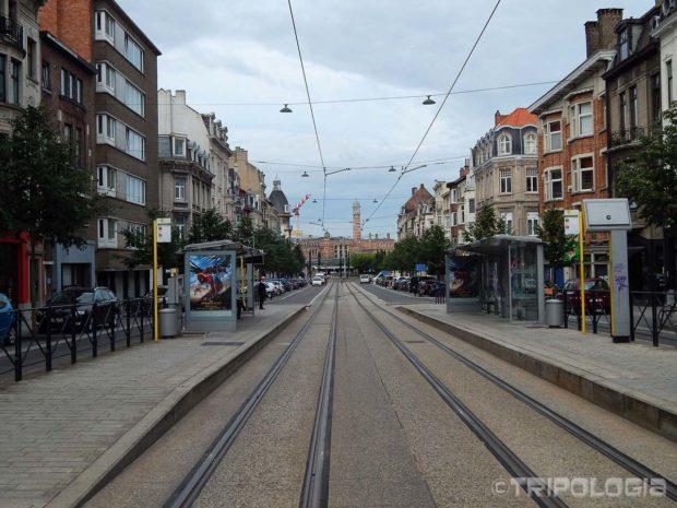 Pogled niz ulicu prema stanici Gent-Sint-Pieters