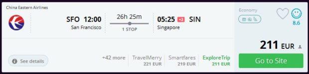 San Francisco >> Singapur