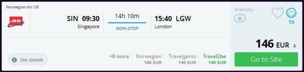 Singapur >> London