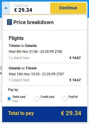 Trst >> Catania >> Trst