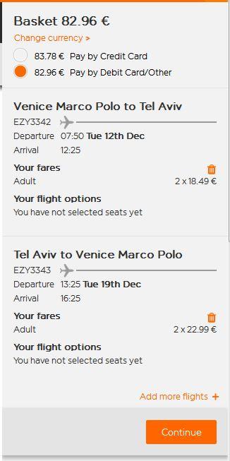 Venecija >> Tel Aviv >> Venecija