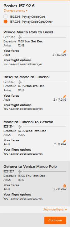 Venecija >> Basel >> Funchal (Madeira) >> Ženeva >> Venecija