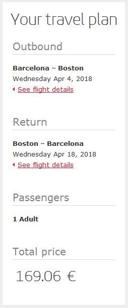 Barcelona >> Boston >> Barcelona, na Iberia stranicama