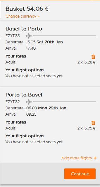 Basel >> Porto >> Basel