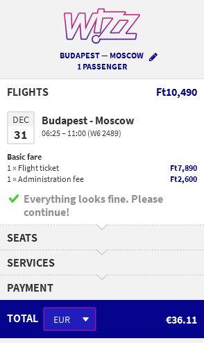 Budimpešta >> Moskva