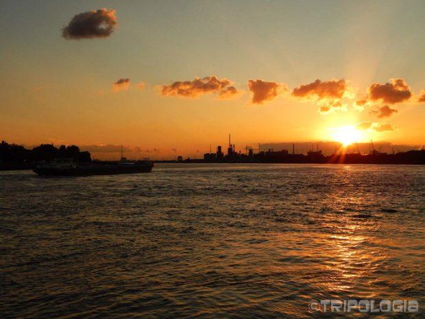 Zalazak sunca iznad rijeke Scheldt