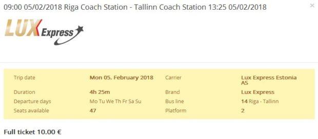 Riga >> Talin