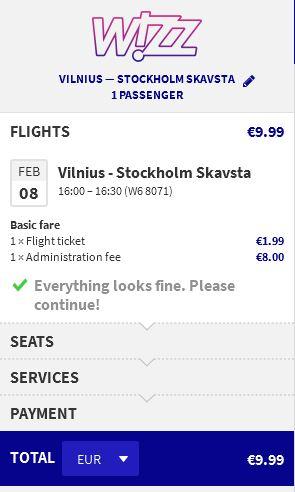 Vilnius >> Stockholm
