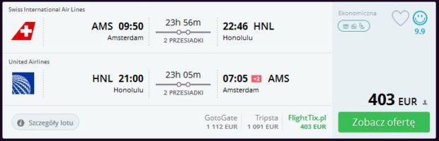 Amsterdam >> Honolulu >> Amsterdam