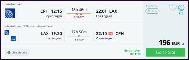 Kopenhagen >> Los Angeles >> Kopenhagen