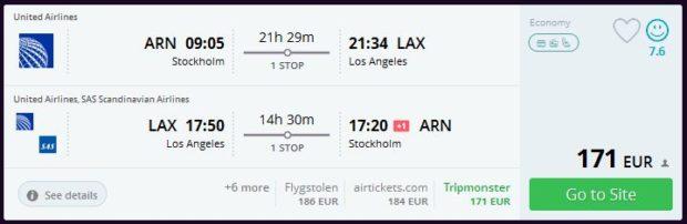 Stockholm >> Los Angeles >> Stockholm