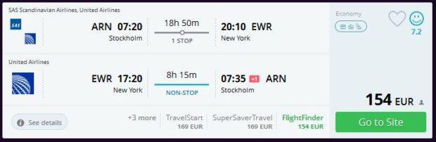 Stockholm >> New York >> Stockholm