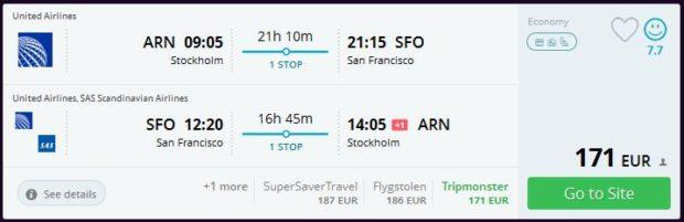 Stockholm >> San Francisco >> Stockholm